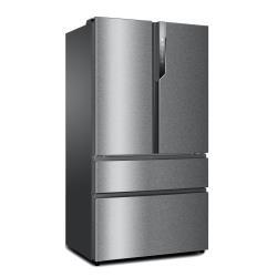 Réfrigérateur Haier HB25FSSAAA - Réfrigérateur/congélateur - pose libre - largeur : 100 cm - profondeur : 76 cm - hauteur : 190 cm - 685 litres - style français avec distributeur de glaçons - Classe A++ - inox