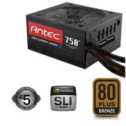 Alimentation PC Antec High Current Gamer HCG-750M - Alimentation ( interne ) - ATX12V 2.32/ EPS12V 2.92 - 80 PLUS Bronze - CA 100-240 V - 750 Watt - PFC active - Europe