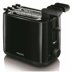 Grille pain Philips Daily Collection HD2597 Compact Reheat - Grille-pain - 2 Emplacements - noir