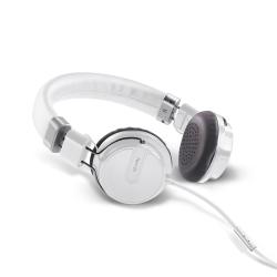 Celly HipHop - Casque avec micro - sur-oreille - 3.5 mm plug - blanc