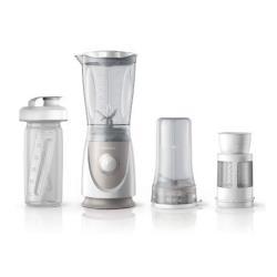 Mixeur Philips Daily Collection HR2874 - Bol mixeur blender - 0.6 litres - 350 Watt - blanc/gris