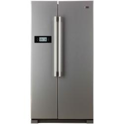Réfrigérateur Haier HRF-628DF6 - Réfrigérateur/congélateur - pose libre - largeur : 90.8 cm - profondeur : 69 cm - hauteur : 179 cm - 579 litres - Américain - classe A+ - inox