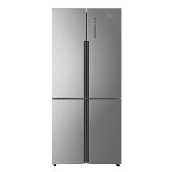 Réfrigérateur Haier HTF-452DM7 - Réfrigérateur/congélateur - pose libre - largeur : 83.3 cm - profondeur : 64.9 cm - hauteur : 190 cm - 450 litres - Américain - classe A+ - inox
