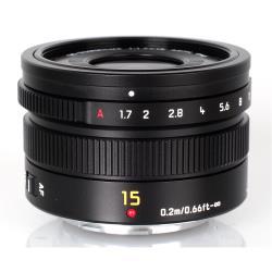 Objectif Leica DG Summilux - Objectif - 15 mm - f/1.7 ASPH. - Micro Four Thirds - pour Lumix G DMC-G7, G70, G7H, G7K, G7M, G7W, GH4U, GM5K, GM5W, GX8, GX8A, GX8H, GX8K, GX8M