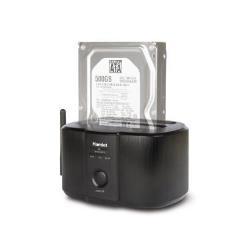 Boîtier pour disque dur externe Hamlet HXDDWIFI - Serveur NAS - SATA 6Gb/s - USB 3.0 / Ethernet 10/100 / 802.11b/g/n