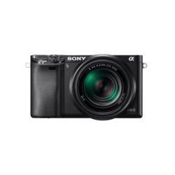Appareil photo Sony a6000 ILCE-6000Y - Appareil photo numérique - sans miroir - 24.3 MP - 3 x zoom optique objectifs 16-50 mm et 55-210 mm - Wi-Fi, NFC - noir