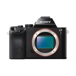 Appareil photo Sony a7 ILCE-7 - Appareil photo numérique - sans miroir - 24.3 MP - Cadre plein - 1080p - corps uniquement - Wi-Fi, NFC - noir