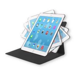 Coque TUCANO Giro - Protection à rabat pour tablette - cuir écologique - noir - pour Apple 9.7-inch iPad Pro