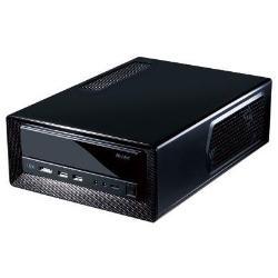 Boîtier PC Antec ISK300-150 - Ordinateur de bureau à faible encombrement - mini ITX - adaptateur secteur 150 Watt - noir - USB/Audio/E-SATA