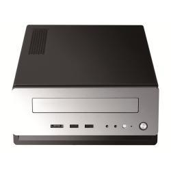 Boîtier PC Antec ISK310-150 - Ordinateur de bureau à faible encombrement - mini ITX - adaptateur secteur 150 Watt - noir, argenté(e) - USB/Audio/E-SATA