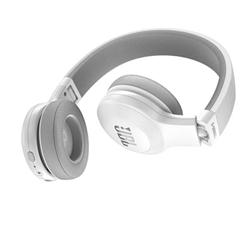 JBL E45BT - Casque avec micro - sur-oreille - sans fil - Bluetooth - blanc