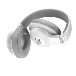 JBL E55BT - Casque avec micro - pleine taille - sans fil - Bluetooth - blanc