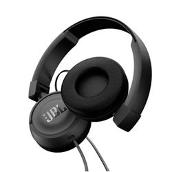 JBL T450 - Casque avec micro - sur-oreille - jack 3.5mm - noir