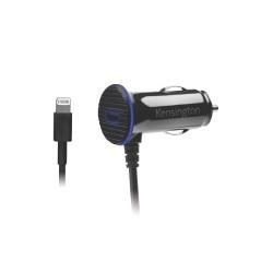 Chargeur Kensington PowerBolt 3.4 Dual Port Fast Charge Car Charger - Adaptateur allume-cigare (voiture) - 2.4 A - 2 connecteurs de sortie (USB (alimentation uniquement), Lightning) - noir - pour Apple iPad/iPhone/iPod (Lightning)