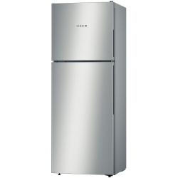Réfrigérateur Bosch Serie 4 KDV33VL30 - Réfrigérateur/congélateur - pose libre - largeur : 60 cm - profondeur : 65 cm - hauteur : 176 cm - 300 litres - congélateur haut - Classe A++ - inoxLook