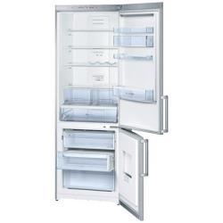 R�frig�rateur Bosch KGN49VI20 - R�frig�rateur/cong�lateur - pose libre - largeur : 70 cm - profondeur : 62 cm - hauteur : 200 cm - 389 litres - cong�lateur bas - classe A+ - inox
