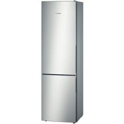 R�frig�rateur Bosch Confort KGV39VL31S - R�frig�rateur/cong�lateur - pose libre - largeur : 60 cm - profondeur : 65 cm - hauteur : 201 cm - 344 litres - cong�lateur bas - Classe A++ - inox