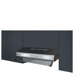 Hotte Smeg KSEC61XE - Capot - standard - largeur : 59.8 cm - profondeur : 52.7 cm - evacuation & recyclage - inox/noir