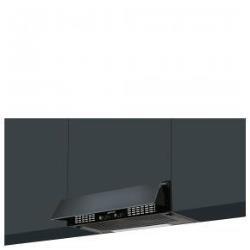 Hotte Smeg KSEIR62E - Capot - intégré - largeur : 59.8 cm - profondeur : 30 cm - evacuation & recyclage - noir