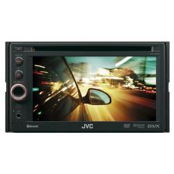 Autoradio JVC KW-AV61BTE - Récepteur DVD - affichage - 6.1 po - unité intégrée au tableau de bord - Double-Din - 50 Watts x 4