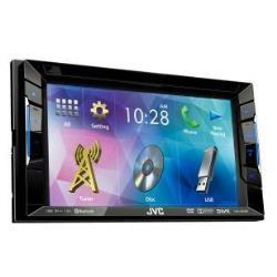 Autoradio JVC KW-V220BT - Récepteur DVD - affichage - 6.2 po - écran tactile - unité intégrée au tableau de bord - Double-Din - 50 Watts x 4