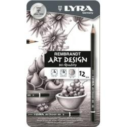 Porte mines LYRA Rembrandt Art Design - Crayon - 6B - pack de 12
