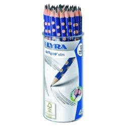 Porte mines LYRA Groove Slim - Crayon - graphite - HB - pack de 48