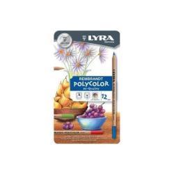 Lyra Rembrandt Polycolor - Crayon de couleur - pastel à l'huile - couleurs assorties - 4 mm - pack de 12