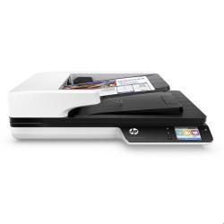 Scanner HP Scanjet Pro 4500 fn1 - Scanner de documents - Recto-verso - 216 x 3100 mm - 1200 ppp x 1200 ppp - jusqu'à 30 ppm (mono) / jusqu'à 30 ppm (couleur) - Chargeur automatique de documents (50 feuilles) - jusqu'à 4000 pages par jour - USB 3.0, Gigabit LAN, Wi-Fi(n)