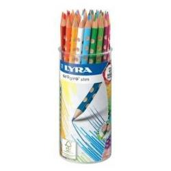 Crayon LYRA Groove Slim - Crayon de couleur - couleurs assorties - 3.3 mm - pack de 48