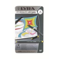 Lyra Hi-Quality Art Pen - Feutre - assortiment de couleurs fluorescentes, couleurs métalliques assorties - encre à l'eau - fin - pack de 50