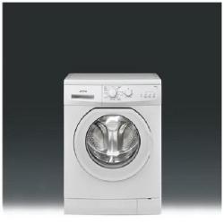 Lave-linge Smeg LBW106S - Machine à laver - pose libre - largeur : 60 cm - profondeur : 40 cm - hauteur : 85 cm - chargement frontal - 41 litres - 6 kg - 1000 tours/min - blanc
