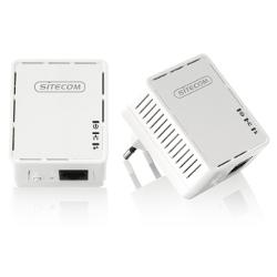 Adaptateur CPL Sitecom LN-530 Mini Homeplug dual pack - Pont - HomePlug AV (HPAV) - Branchement mural