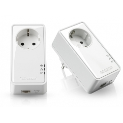 Adaptateur CPL Sitecom LN-553 Socket Homeplug 500 Mbps Dual Pack - Pont - HomePlug AV (HPAV) - Branchement mural (pack de 2)
