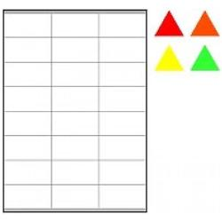 Tico Copy Laser Premium - Étiquettes fluorescentes - papier - auto-adhésif permanent - jaune - 70 x 36 mm 1680 étiquette(s) (70 feuille(s) x 24)