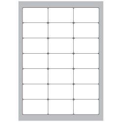 Copy Basic Megastar LP4MS - Étiquettes - papier - mat - adhésif permanent - blanc - 63.5 x 38.1 mm 2100 étiquette(s) (100 feuille(s) x 21)