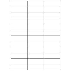 Copy Basic Megastar LP4MS - Étiquettes pré-découpées - papier - mat - adhésif permanent - blanc mat - 70 x 25 mm 3600 étiquette(s) (100 feuille(s) x 36)