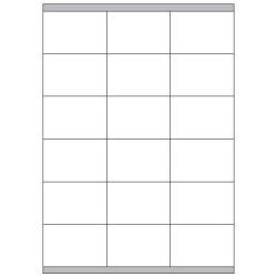 Copy Basic Megastar LP4MS - Étiquettes - papier - mat - adhésif permanent - blanc - 70 x 48 mm 1800 étiquette(s) (100 feuille(s) x 18)