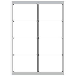 Copy Basic Megastar LP4MS - Étiquettes - papier - mat - adhésif permanent - blanc - 99.1 x 67.7 mm 800 étiquette(s) (100 feuille(s) x 8)