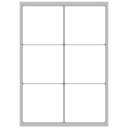 Copy Basic Megastar LP4MS - Étiquettes - papier - mat - adhésif permanent - blanc - 99 x 93 mm 600 étiquette(s) (100 feuille(s) x 6)