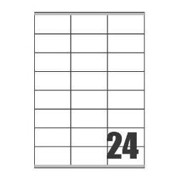 Tico Copy Laser Premium - Étiquettes - papier - mat - adhésif permanent - blanc - 70 x 36 mm 2400 étiquette(s) (100 feuille(s) x 24)