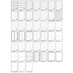 Tico TAB - Étiquettes - auto-adhésif - blanc - 70 x 37 mm 2400 étiquette(s) (100 feuille(s) x 24)
