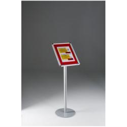 Porte-brochures TECNOSTYL - Présentoir - sur pied - pour A4 - argenté(e)