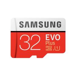 Carte mémoire Samsung EVO Plus MB-MC32G - Carte mémoire flash (adaptateur microSDHC - SD inclus(e)) - 32 Go - UHS Class 1 / Class10 - microSDHC UHS-I