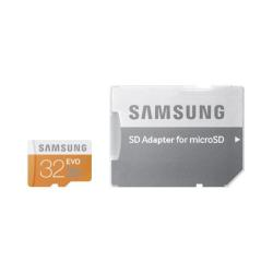 Carte mémoire Samsung EVO MB-MP32D - Carte mémoire flash (adaptateur microSDHC - SD inclus(e)) - 32 Go - UHS Class 1 / Class10 - microSDHC UHS-I - pou