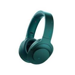 Sony h.ear on MDR-100ABN - Casque avec micro - pleine taille - sans fil - Bluetooth - NFC* - Suppresseur de bruit actif - bleu viridian