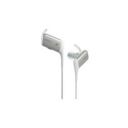 Sony MDR-AS600BT - �couteurs avec micro - intra-auriculaire - montage derri�re le cou - sans fil - Bluetooth - NFC* - blanc