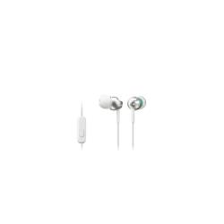 Sony MDR-EX110AP - �couteurs avec micro - intra-auriculaire - jack 3.5mm - blanc
