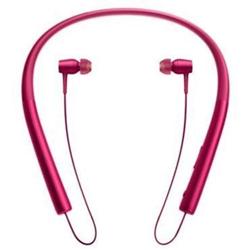 Sony h.ear in MDR-EX750BT - Écouteurs avec micro - intra-auriculaire - montage derrière le cou - sans fil - Bluetooth - NFC* - rose bordeaux