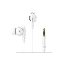 Sony MDR-NC31EM - Écouteurs avec micro - intra-auriculaire - Suppresseur de bruit actif - jack 3,5mm - blanc - pour Sony XPERIA Z3 Dual, Z3v; Z2 Tablet; Z3 Tablet Compact; Z4 Tablet